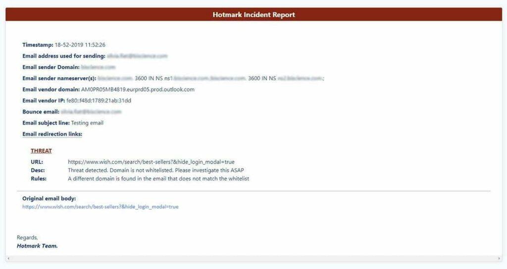 Understanding the Hotmark incident report