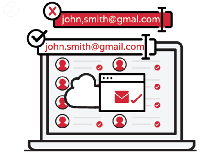 Validating that email addresses exists is crucial