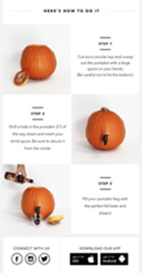 Minibar explains how to turn your pumpkin into a drinks dispenser