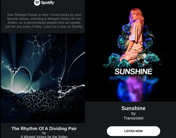 Spotify is a leader when it comes to email personalization